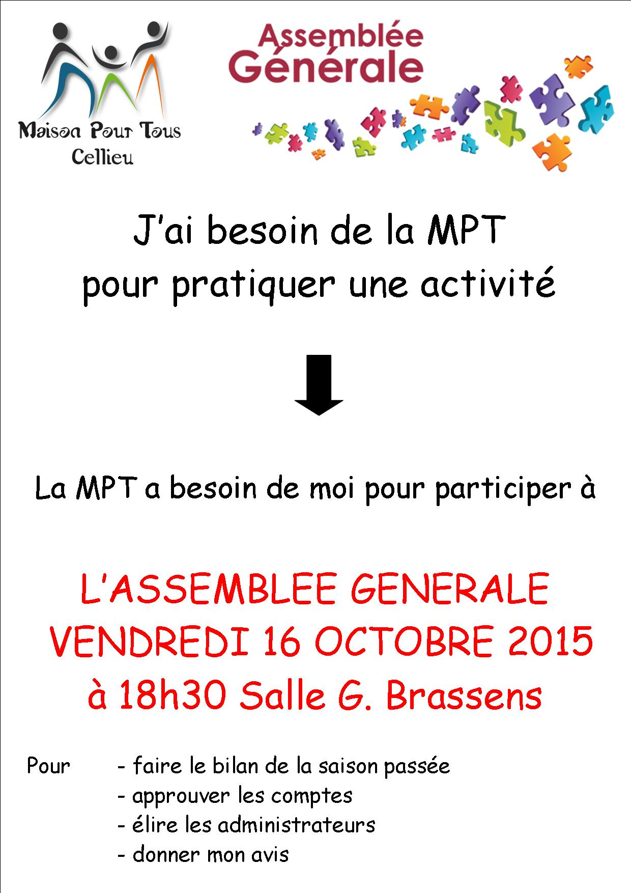 Affiche AG inscription